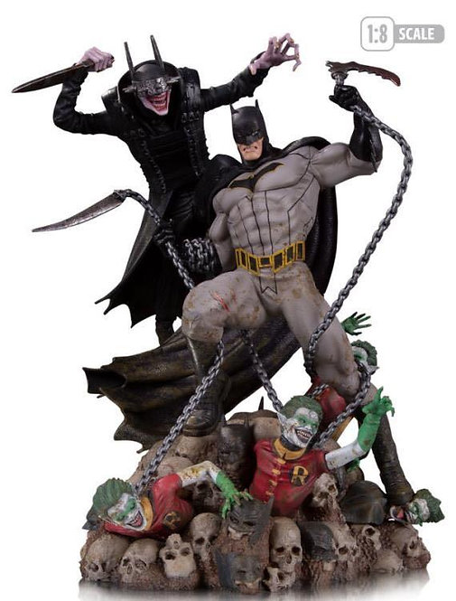DC Collectibles - Batman Who Laughs vs. Batman Battle 1:8 Scale Statue