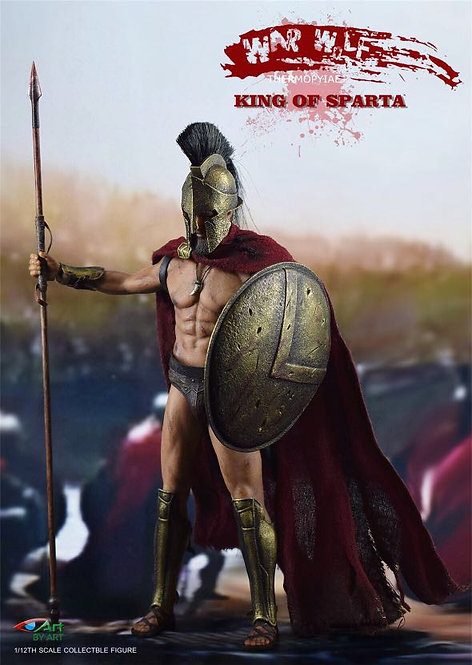 BY-ART King of Sparta 1/12 War Wolf Thermopylae G01 - 300