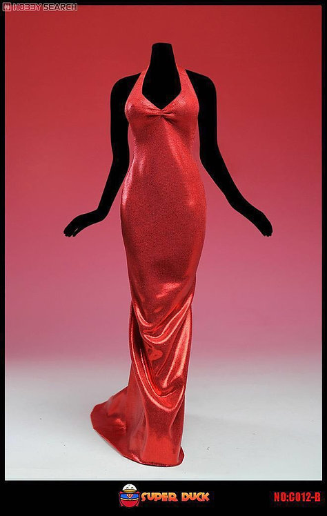 Super Duck - Red Evening Dress C012-B