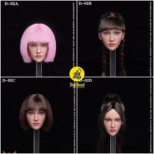 Createmodels D-02 Calm Expression Female 1/6 Headsculpt
