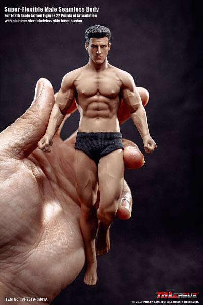 TM01A TBLeague Phicen 1/12 Scale Super Flexible Male Seamless Body with Head