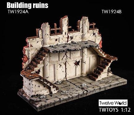 TWTOYS TW1924 - 1/12 Ruins of Building Scene Platform