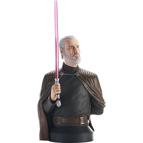 Diamond Select Star Wars Revenge of the Sith Count Dooku 1:6 Scale Mini-Bust