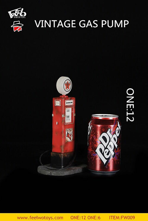 FEELWOTOYS FW009-12 Vintage Gas Pump 1/12 Scale