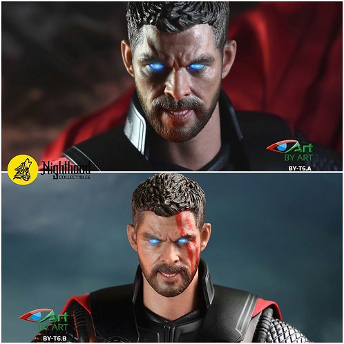 BY-ART BY-T6 1/6 Headsculpt (Eyes with Voice Activated Light)