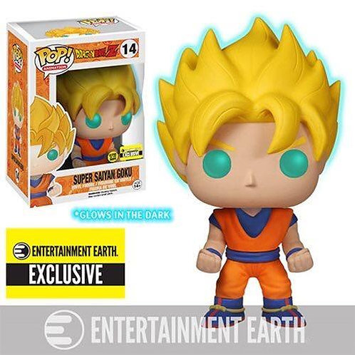 Funko Glow in the Dark Super Saiyan Goku Pop! Vinyl Figure