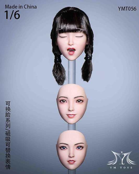 YMTOYS YMT056 Face Changing Series Chan 1/6 Headsculpt