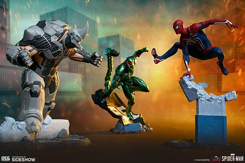Sideshow Spider-Man/Rhino/Scorpion Collectible Set by PCS Collectibles
