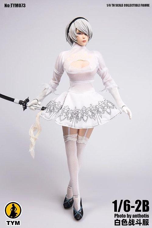 TYM073 - 1/6 2B White Combat Skirt