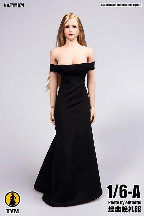 TYM074 - 1/6 One Shoulder Sexy Evening Dress