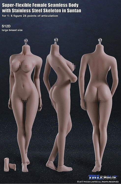 S12D TBLeague Phicen 1/6 scale female seamless body