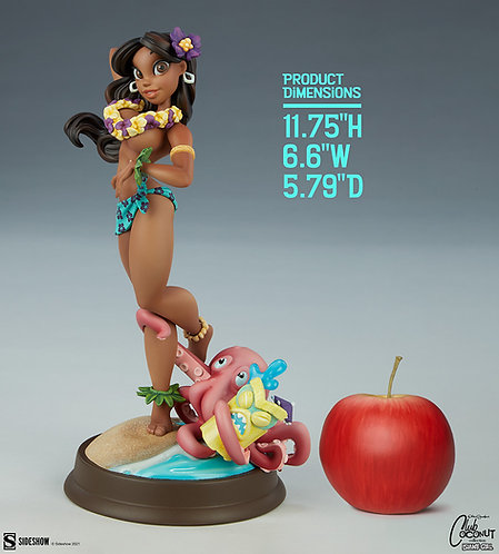 Sideshow Club Coconut Collection - Island Girl Statue by Chris Sanders