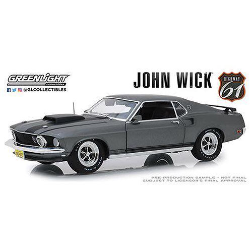 Greenlight Collectibles - John Wick (2014) 1969 Ford Mustang BOSS 429 1:18 Scale