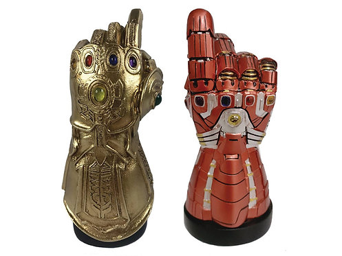 Surreal Marvel Infinity and Nano Gauntlet LED Desk Monument SDCC 2020 PX