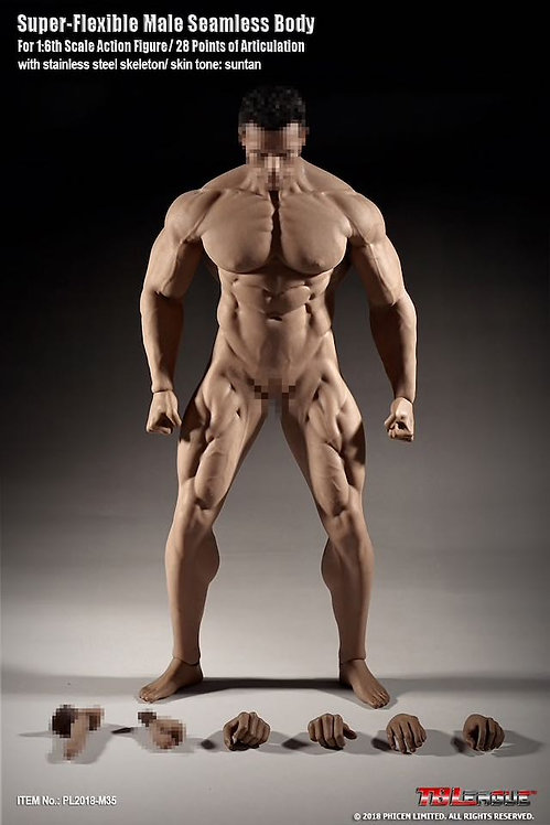 M35 TBLeague Phicen 1/6 super flexible male seamless body