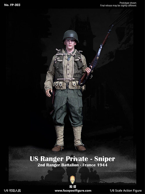 FacePoolFigure FP003A 1/6 US Ranger Private Sniper France 1944 Standard Edition
