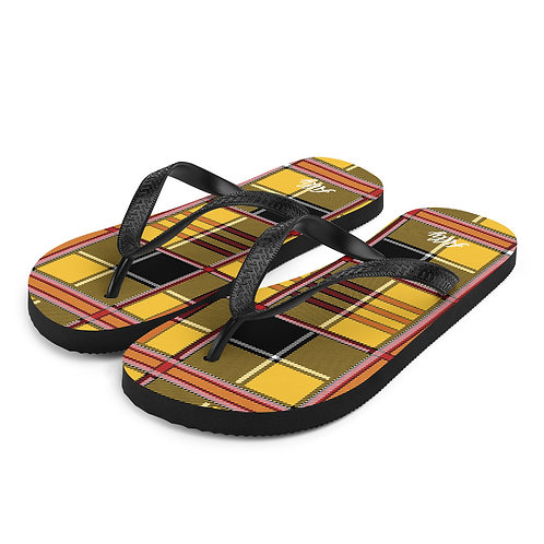 Tartan Flip-Flops