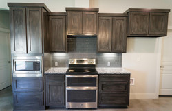 Antiqued Cabinets in Harker Heights