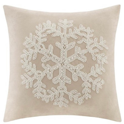Snowflake Embroidered Suede