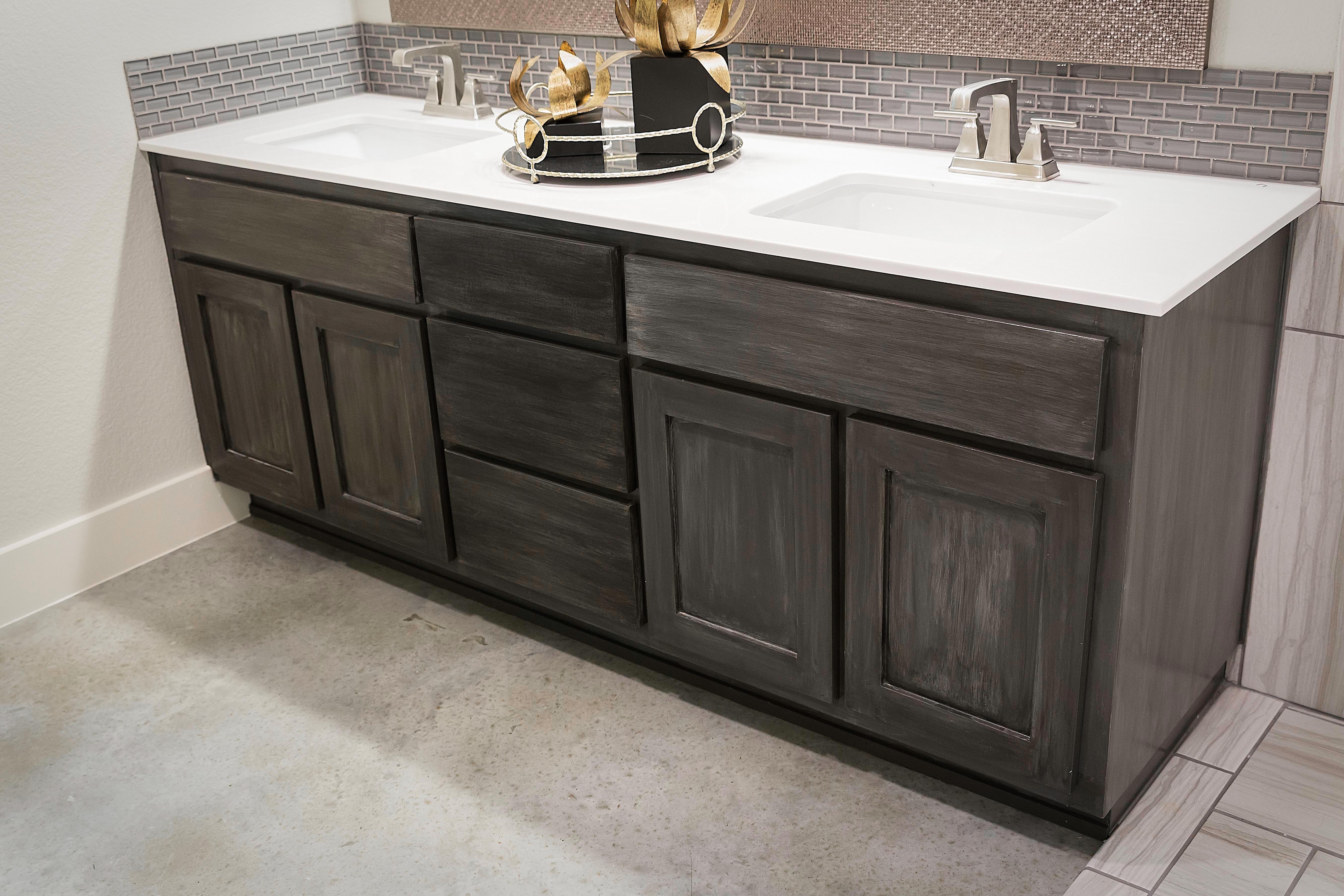 Custom Antiqued Cabinets