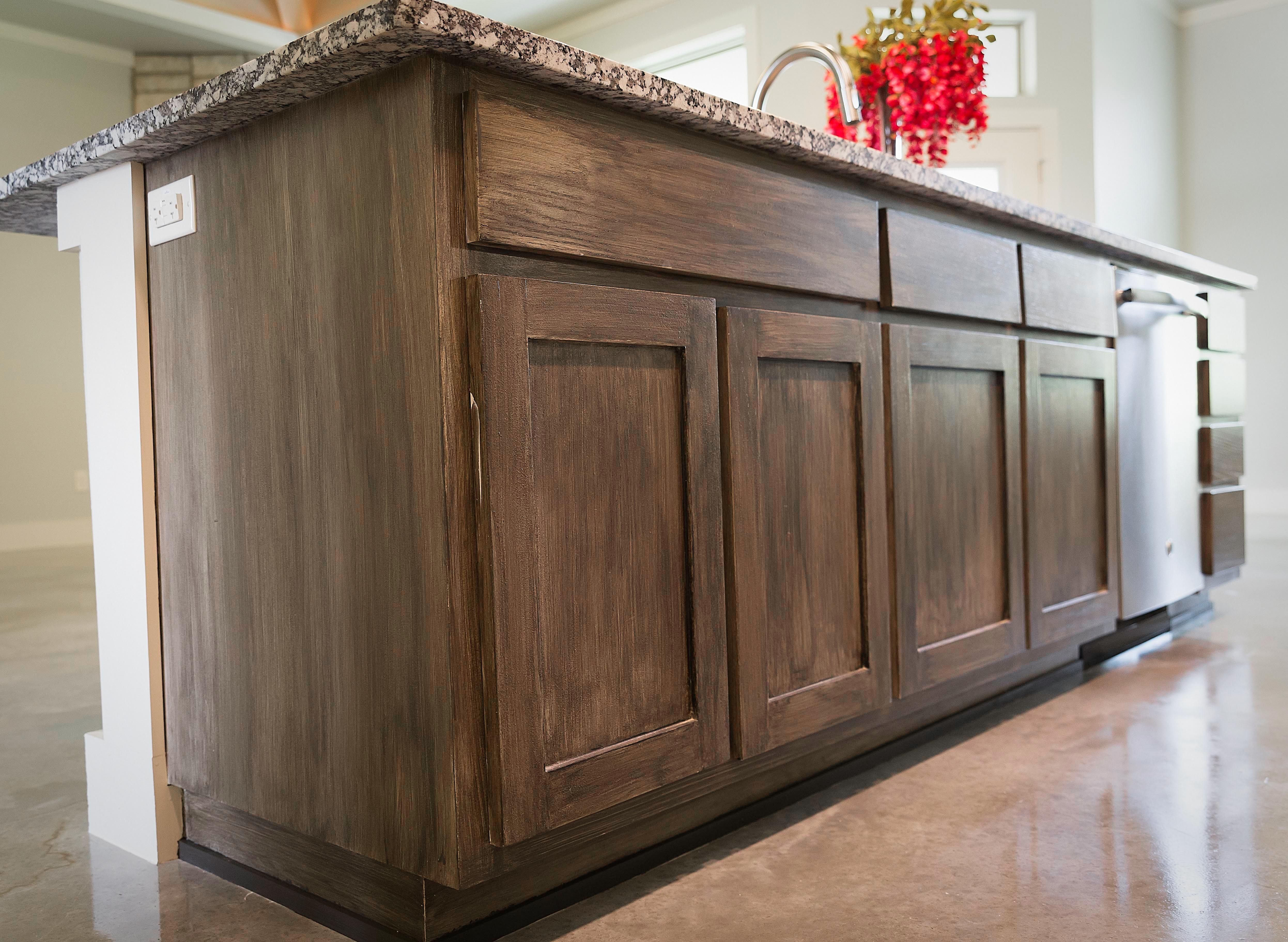 Hand Crafted Antiqued Cabinets