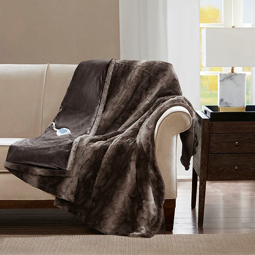Oversized Faux Heated Throw