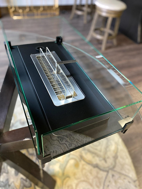 Tabletop Fireplace w/ Glass Case
