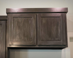 Custom Antiqued Cabinets