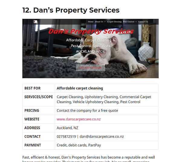 16 Services with the best carpet cleaning in Auckland