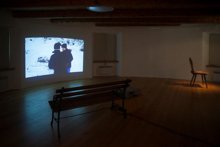 Casa Rotonda: installation view, first floor