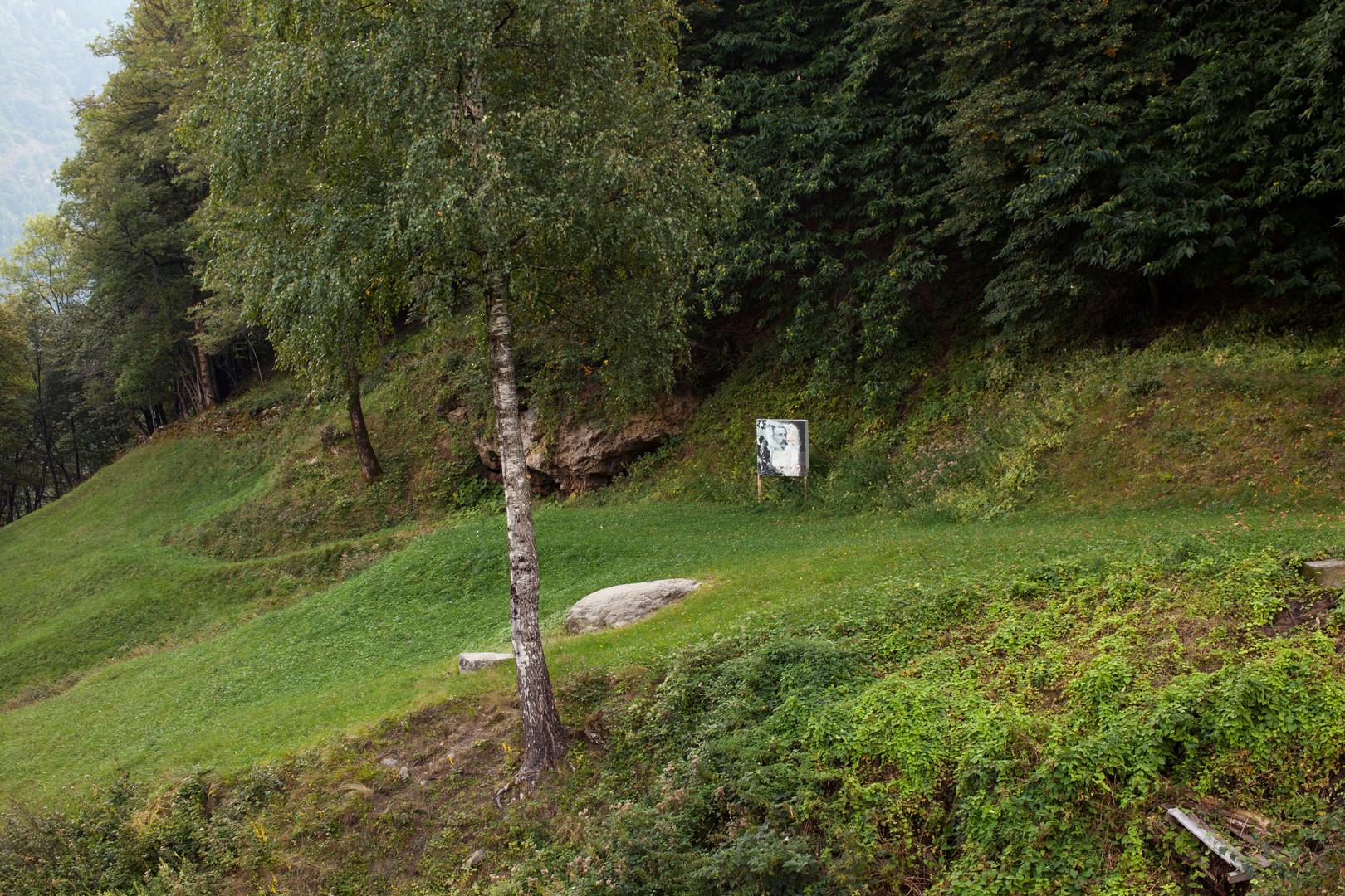 Corzoneso/Casserio: installation view (Sentiero Donetta)