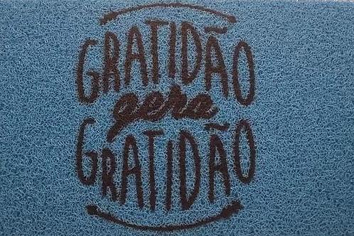 TAPETE CAPACHO GRATIDÃO GERA GRATIDÃO 80CM X 40CM