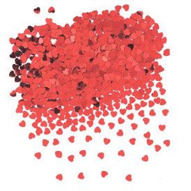 Confetti Hearts Red .5Oz