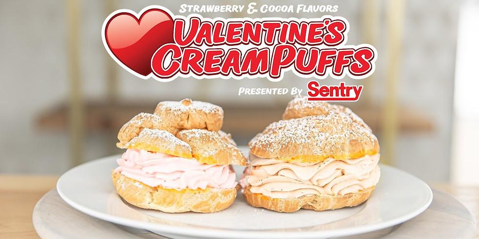 Valentine's Cream Puffs