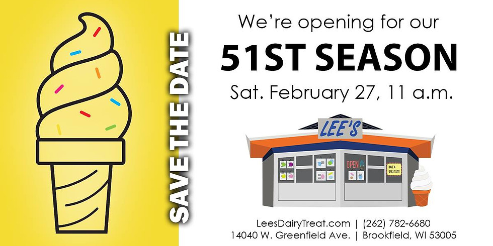 Lee's Dairy Treat's 51st Season Opening Day