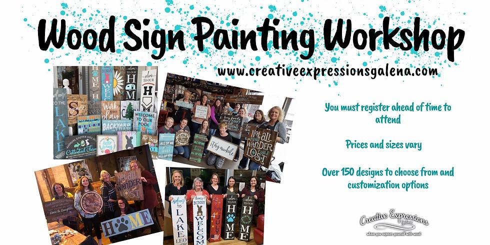 Wood Sign Painting Workshop at Cleveland Pub