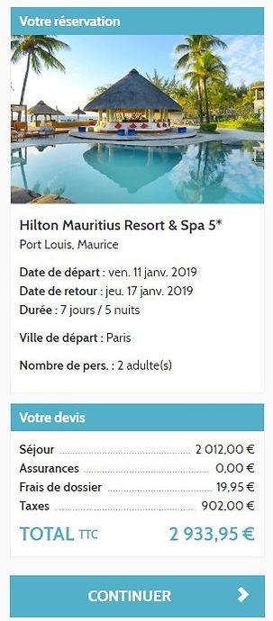 Réservation ile maurice hotel