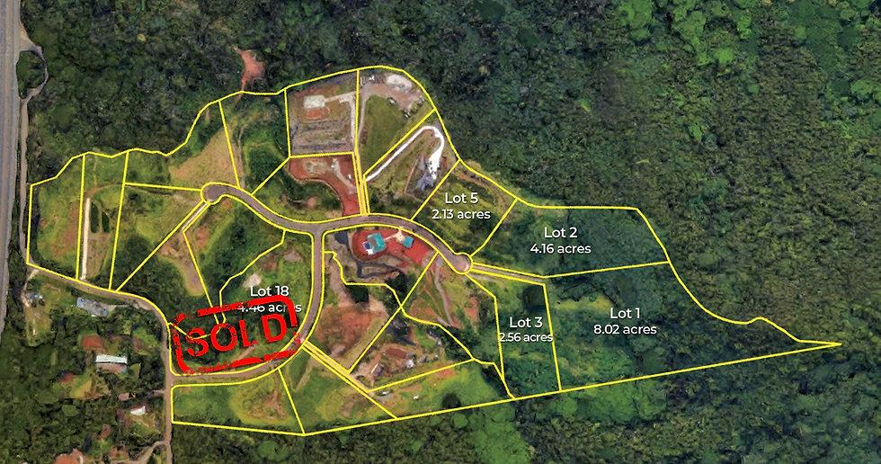Olomana Lot Map Lot 18 Sold