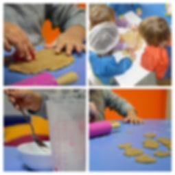 les enfants font de la pâtisserie