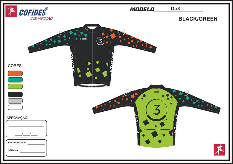 Women's Do3 long sleeve cycle jersey with full zip - green