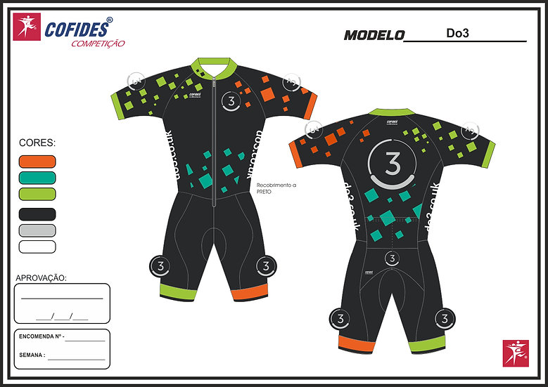 Unisex Do3 speedsuit with sleeves