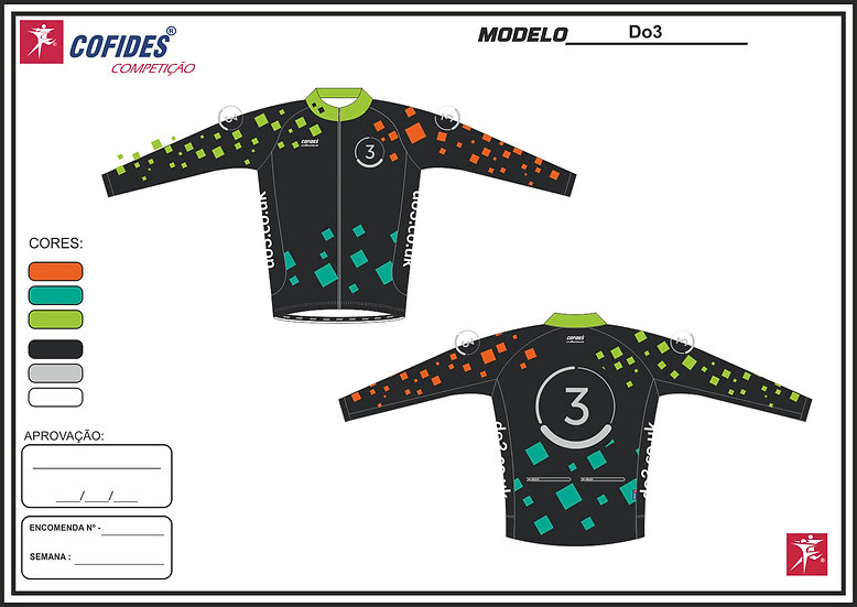 Women's Do3 long sleeve cycle jersey with full zip - black