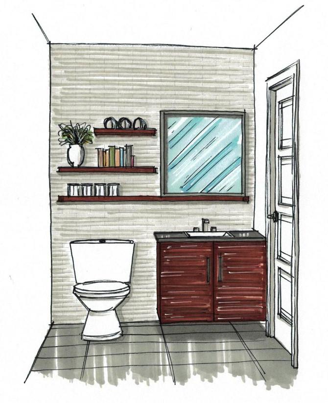 Une salle d'eau fonctionnelle