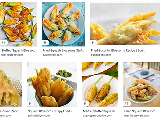 "Don't take our word for it! Just Google ""fried squash blossoms"""
