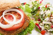 Quinoa Burger Platter