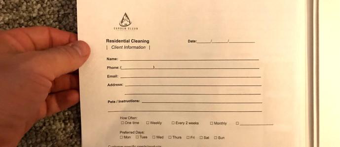 1. Client Information Sheet