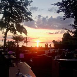 Sonnenuntergang in der Lounge