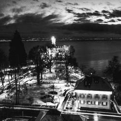 Schloss Montfort bei Nacht