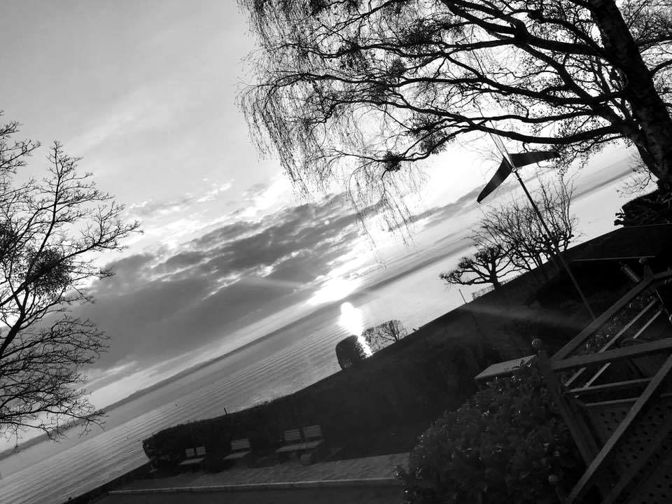 Sonnenuntergang im Schlossgarten