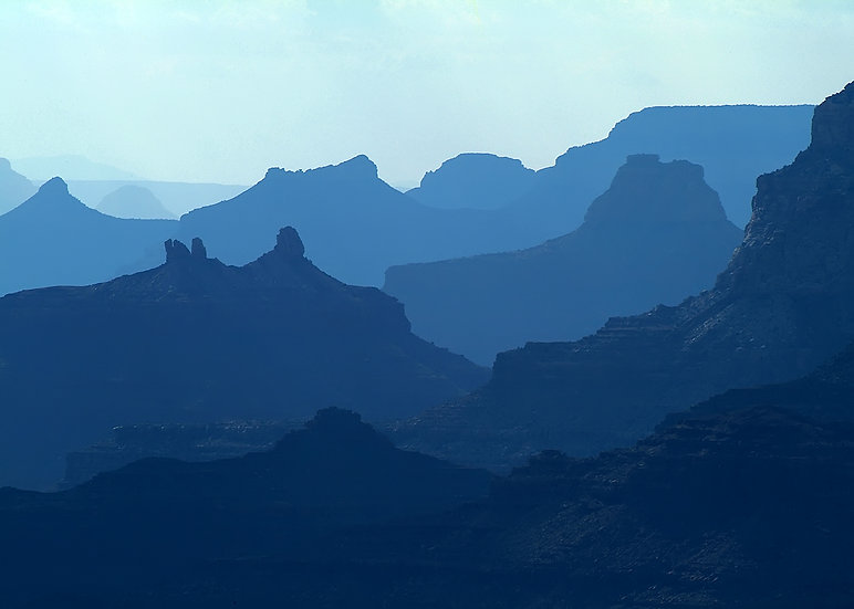 Silhouetted Layers, Navajo Point, South Rim